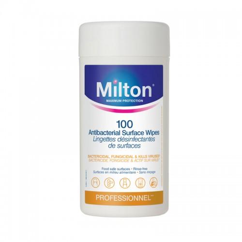 MILTON antibakterinės servetėlės 100 vnt.