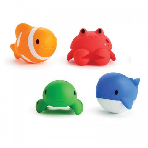 "MUNCHKIN vonios žaislų rinkinys ""Squirters Ocean Buddies"", 4 vnt."